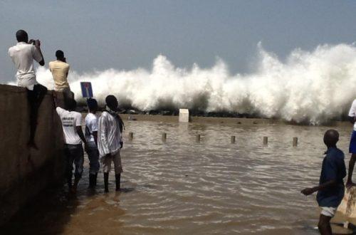 Article : Changements climatiques: Dégats de l'avancée de la mer à Bargny